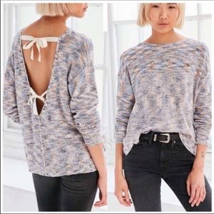 NWOT Urban Outfitters Kimchi Blue Tie Back Sweater